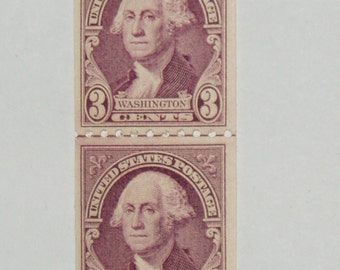 Vintage Mint USA Stamps, Scott #722 Line Pair, Never Hinged