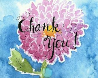 Handmade Thank You Notes  - No. 1719   Thank You