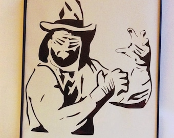 Macho Man Randy Savage Framed Papercut (Custom Colors Available)
