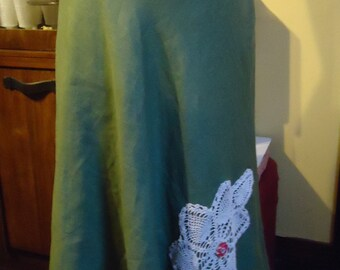 Pale Green Linen Skirt