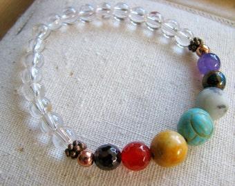 7 Chakra Energy Stone Bracelet - a Meditation and Yoga Bracelet
