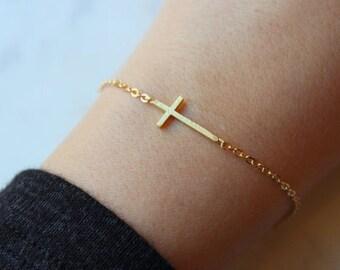 Gold Sideways Cross, Gold Sideway Cross, Sideways Cross, Trending Now, Cross Gift Ideas, Baptism Gold Cross, Dainty Cross, Relationship Gift