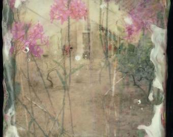 Greenhouse Study, Original Encaustic Painting