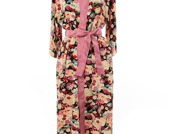 Kimono Dressing gown, Cherry blossom kimono robe, Elegant Japanese Kimono, Cherry blossoms, Sakura