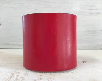 Deep Red Leather Cuff