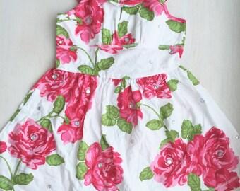 Baby dress, toddler dress, baby flower dress, flower girl dress, girls wear, summer dress for kids, birthday dress, photo prop dress, baby