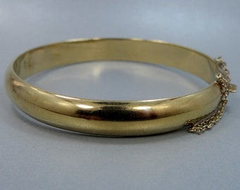 Carl Art Sterling Silver Vermeil Bangle Bracelet