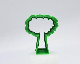 3D Print Tree Cookie Cutter, 2″/3″/4″/5″ Size, 1″ Deep
