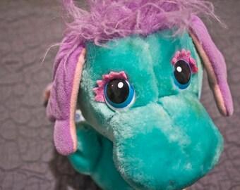 1984 Moosel Wuzzle - Vintage stuffed animal - 80s Hasbro Softies Toy - Bradley Walt Disney