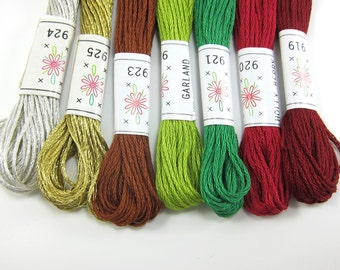 Christmas Embroidery Floss Set - 7 Skeins - Sublime Stitching Christmas Tree