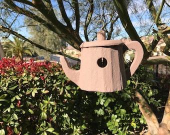 BIRDHOUSE Hanging Teapot