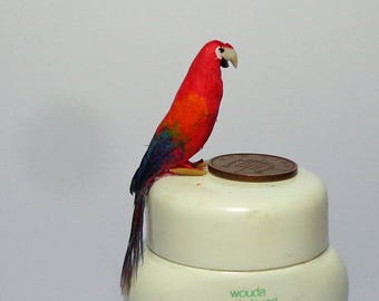 1:12 Scale Parrot; Doll House Miniatures Bird; Parrot