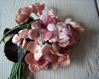 Antique Velvet Millinery Flower 1930s 1940s  (Ref: A-5065/2 Box 2)