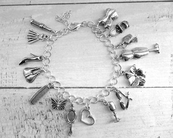 Instagram Fashionista Fashion Addict Designer Themed Charm Bracelet