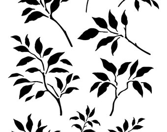 """11.7/16.5"""" Branches leaves design 2. A3"""