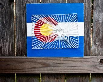 Colorado Flag String Art, Colorado Flag, Colorado Painting, Colorado Decor, Denver Colorado, Colorado Gift, State String Art