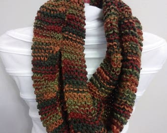 Infinity Multi Color Knitting  Scarf, Free Shipping