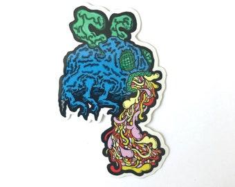 Barfing Grumblee Sticker