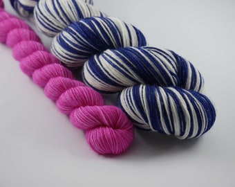 LOVE SOCK self-striping, Plouf & Rosalie, merino nylon sock yarn,100g