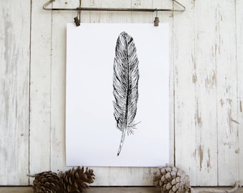 Feather art - printable art, Feather wall art,  Art print, Art & collectibles, Room decor, DIY home decor