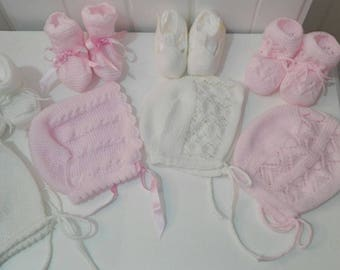 Matching canopy and booties (one set per price)