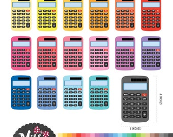 30 Colors Calculator Clipart - Instant Download