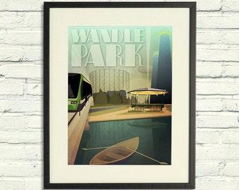 Wandle Park - A2 Poster Print