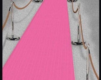 Hollywood Pink Carpet Floor Runner/ Hollywood Party/Oscar Ceremony Party/ Pink Floor Runner/ Pink Carpet