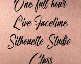 Silhouette Studio Online Facetime Class