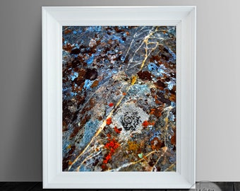 Texture Abstract Art Print, Stone Surface, Geology Art, Printable 11x14
