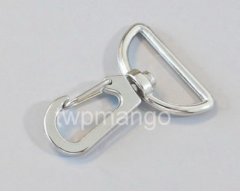 50 Silver Metal Swivel Lobster Clasps... Clips... Trigger... Large D Ring... H144-50