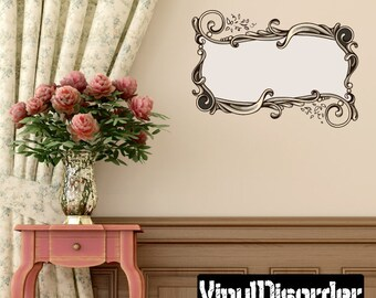 Ornate Scroll Wall Decal - Wall Fabric - Vinyl Decal - Removable and Reusable - ScrollOrnateUScolor008ET