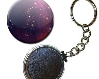 Badge 38 mm - Constellation Galaxy space universe cosmos sky keychain