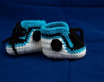 Handmade Crocheted baby shoes.