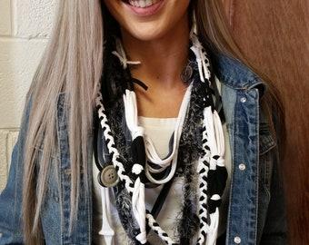 Wearable fiber art necklaces