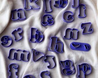 Alphabet cutter set, Fondant alphabet set, Alphabet cutters for fondant