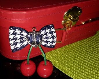 Hey Sailor cherry red hair clip/brooch!