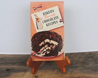 1943 Bakers Favorite Chocolate Recipes Vintage Cookbook