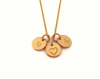 Fine chain of gold pendant 3 letter Monogram