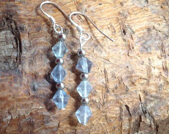 Sterling Silver and Fluorite Earrings