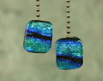 Ceiling fan pull chains, Dichroic glass ceiling fan pull chains, pc6