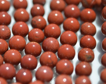 1 Strand  Red Jasper 8mm Round Beads BD776