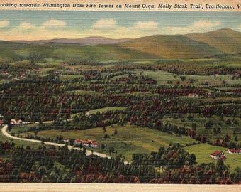 Brattleboro, Vermont, Molly Stark Trail, Fire Tower, Mount Olga - Vintage Postcard - Postcard - Unused (G1)