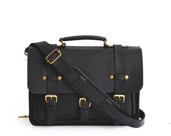 Businessman Leather Briefcase, Mens Messenger Bag, Leather Satchel, Briefcase Men, Laptop Bag Women, Crossbody Satchel, Leather Messenger