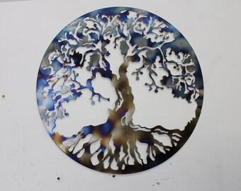 Metal Wall Art Tree of Life 24in