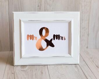 Mr & Mrs Foil Print
