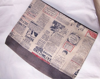 Newspaper printed big pouch
