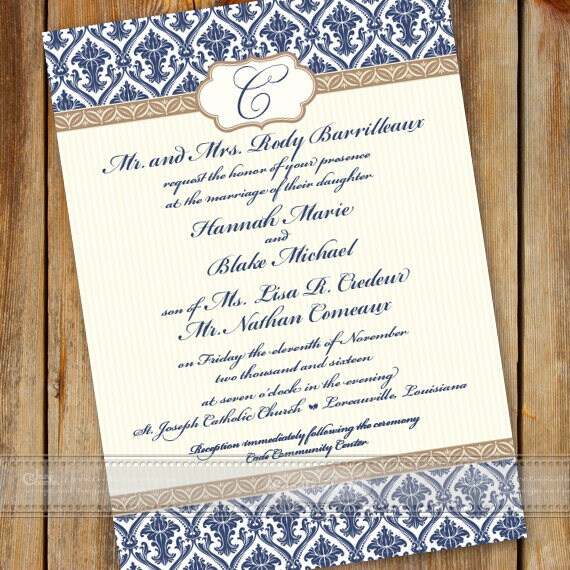 wedding invitations, wedding invitation and rsvp, navy wedding invitations, wedding package, wedding thank you cards, IN601