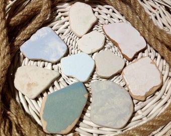 Colored Sea Pottery Bulk Sea Pottery Middle Sea Pottery Sea Ceramic Set Beach Ceramic Beach Pottery Sea Pottery Pieces Beach Wedding Decor
