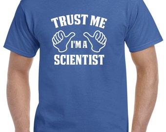 Scientist Gift-Trust Me I'm A Scientist Shirt Science Geek Nerd